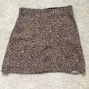 Reformation Animal Print Mini Skirt